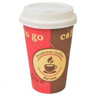 vidaXL 1000 Stk. Einweg-Kaffeebecher mit Deckel 355 ml (12 oz)