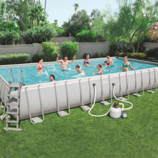 Bestway Power Steel Swimmingpool-Set Rechteckig 956×488×132 cm 56623
