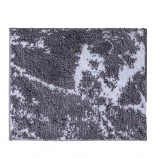 RIDDER Badteppich Marmor Grau-Weiß 55 x 50 cm