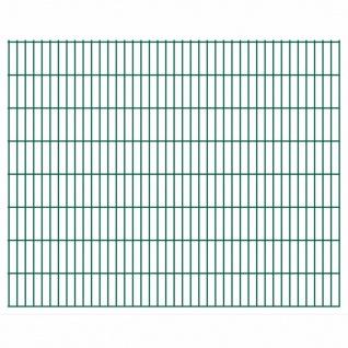 vidaXL 2D Gartenzaun-Elemente 2, 008x1, 63 m Gesamtlänge 38 m Grün