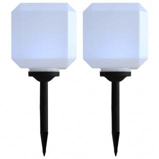vidaXL Outdoor Solarleuchten 2 Stück LED Kubisch 20 cm Weiß