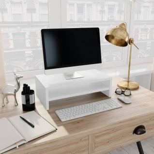 vidaXL Monitorständer Weiß 42×24×13 cm Spanplatte