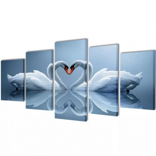 Bilder Dekoration Set Schwan 200 x 100 cm
