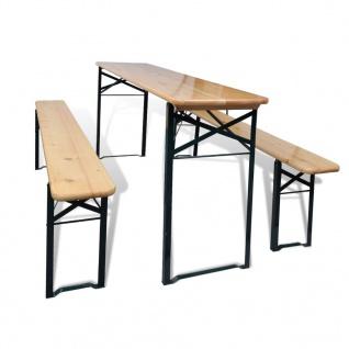 vidaXL Bierzeltgarnitur mit Tisch und 2 Bänken 177 cm Kiefernholz