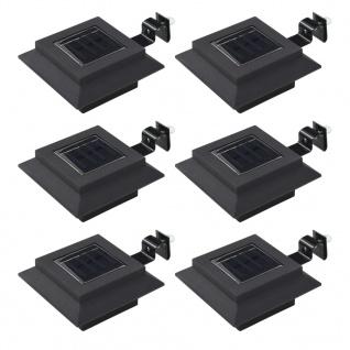vidaXL Outdoor Solarleuchten 6 Stück LED Quadratisch 12 cm Schwarz