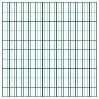vidaXL 2D Gartenzaun-Elemente 2, 008x2, 03 m Gesamtlänge 38 m Grün