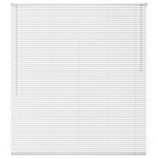 vidaXL Fensterjalousien Aluminium 120x130 cm Weiß