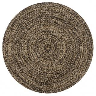 vidaXL Teppich Handgefertigt Jute Schwarz und Natur 150 cm