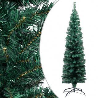 vidaXL Schlanker Künstlicher Weihnachtsbaum mit Ständer Grün 150cm PVC