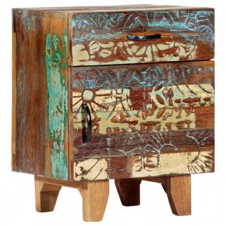 vidaXL Nachttisch Handgeschnitzt 40×30×50 cm Recyceltes Massivholz