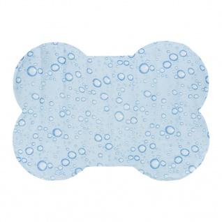 TRIXIE Selbstkühlende Hundematte Knochenform M 60x45 cm Hellblau