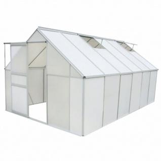 vidaXL Gewächshaus Polycarbonat und Aluminium 430×250×195 cm