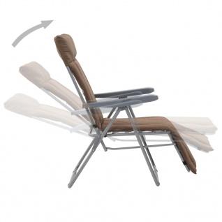 vidaXL Klappbare Gartenstühle mit Auflagen 2 Stk. Braun - Vorschau 4