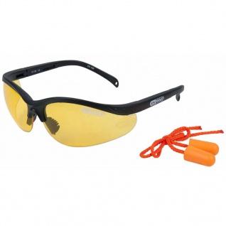 KS Tools Schutzbrille mit Ohrstöpsel Gelb 310.0166