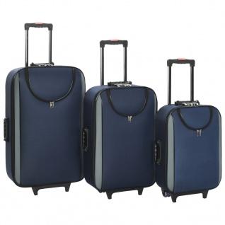 vidaXL Weichgepäck Trolley-Set 3-tlg. Marineblau Oxford-Gewebe
