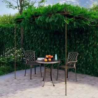 vidaXL Garten-Rosenbogen Antik-Braun 3x3x2, 5 m Eisen