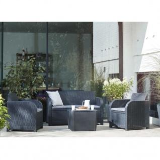 Allibert Garten-Lounge-Set 4 tlg. Novara Anthrazit