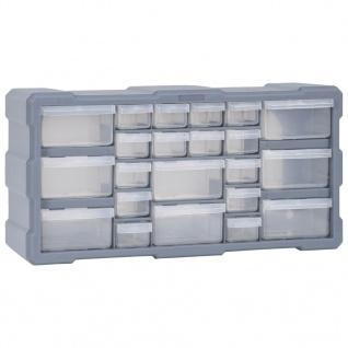 vidaXL Multi-Schubladen-Organizer mit 22 Schubladen 49x16x25, 5 cm