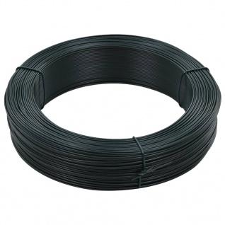 vidaXL Zaun-Bindedraht 250 m 1, 4/2 mm Stahl Schwarzgrün