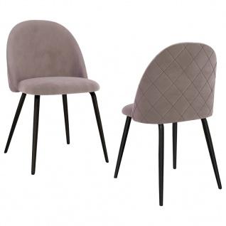 vidaXL Esszimmerstühle 2 Stk. Rosa Stoff