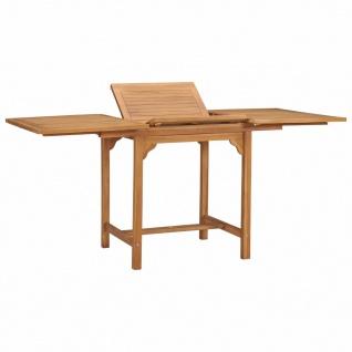 vidaXL Ausziehbarer Gartentisch (110-160)×80×75 cm Massivholz Teak