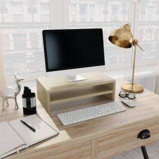 vidaXL Monitorständer Sonoma-Eiche 42×24×13 cm Spanplatte