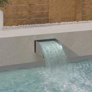 vidaXL Wasserfall mit LEDs 30x34x14 cm Edelstahl 304
