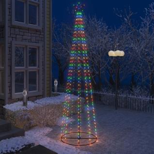 vidaXL Weihnachtskegelbaum 400 Bunte LEDs Dekoration 100x360 cm