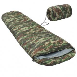 vidaXL Leichter Schlafsack Camouflage 15? 850g
