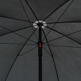 vidaXL 2-Sitzer-Gartensofa mit Auflagen und Sonnenschirm Grau Poly Rattan - Vorschau 4