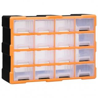 vidaXL Multi-Schubladen-Organizer 16 Schubladen 52x16x37 cm