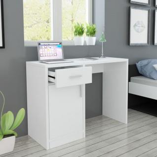 vidaXL Schreibtisch mit Schublade und Schrank Weiß 100x40x73 cm