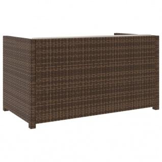 vidaXL 5-tlg. Garten-Lounge-Set mit Auflagen Poly Rattan Braun - Vorschau 4