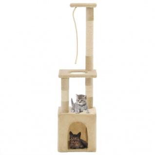 vidaXL Katzen-Kratzbaum mit Sisal-Kratzsäulen 109 cm Beige - Vorschau 1