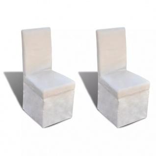 vidaXL Esszimmerstühle 2 Stk. Cremeweiß Stoff