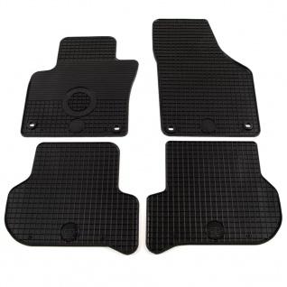 vidaXL Gummi-Fußmatten-Set 4-tlg. für VW Golf Plus