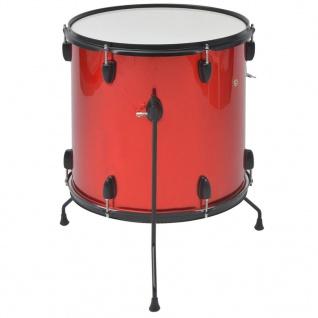 vidaXL Schlagzeug Komplettset Pulverbeschichteter Stahl Rot Erwachsene - Vorschau 4