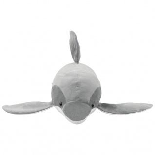 vidaXL Delphin Kuscheltier Plüsch Grau - Vorschau 3