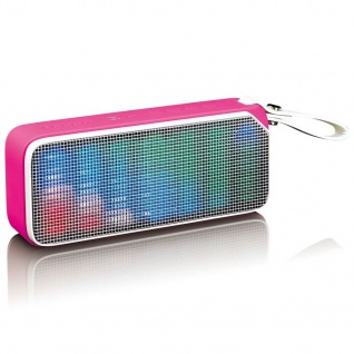 Lenco Bluetooth Stereo Lautsprecher/Diskolicht BT-191 Rosa