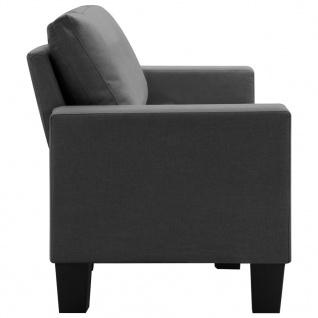 vidaXL 3-Sitzer-Sofa Dunkelgrau Stoff - Vorschau 5