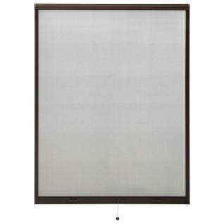 vidaXL Insektenschutzrollo für Fenster Braun 130x170 cm