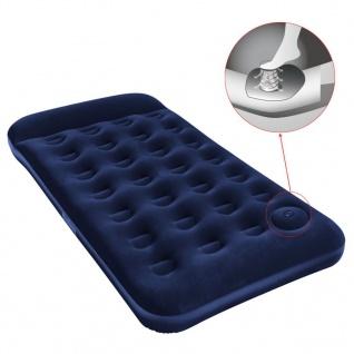 Bestway Luftbett Eingebaute Fußpumpe Aufblasbar Beflockt 188×99×28 cm