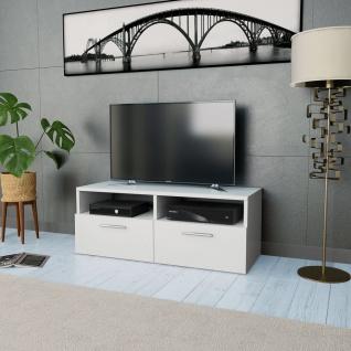 vidaXL TV-Schrank Spanplatte 95 x 35 x 36 cm Weiß