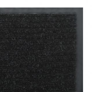 vidaXL Rutschfeste Fußmatte mit Vinyl-Unterseite 1, 2 x 10 m Schwarz - Vorschau 5