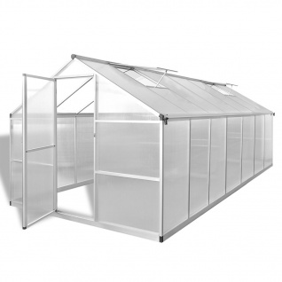 vidaXL Gewächshaus Verstärktes Aluminium 10, 53 m²