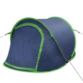vidaXL Pop-Up-Zelt für 2 Personen Marineblau/Grün