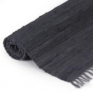 vidaXL Handgewebter Chindi-Teppich Baumwolle 160x230 cm Anthrazit - Vorschau 3