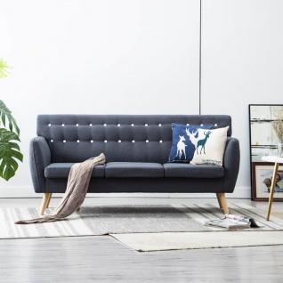 vidaXL 3-Sitzer-Sofa Stoffbezug 172x70x82 cm Dunkelgrau