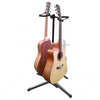 Verstellbare Doppelgitarrenständer Faltbare Instrument-Rack