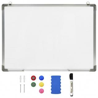 vidaXL Magnetisches Whiteboard Weiß 90 x 60 cm Stahl